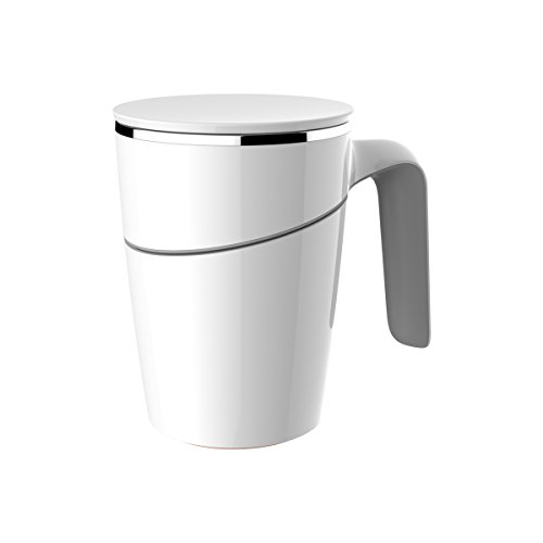 Primeway Artiart Suction Coffee Mug -The World's Unique Mug that won't fall over, 470ml, White