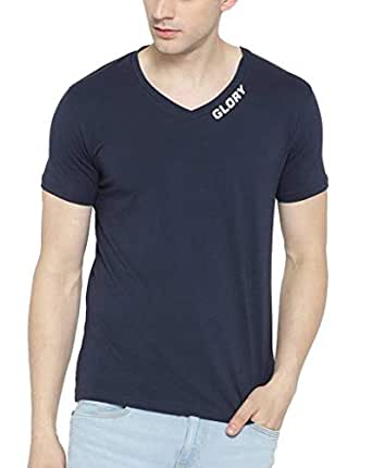 62257fd7 Dream of Glory Inc. Men's Branded Half Sleeve Cotton Printed V-Neck ...