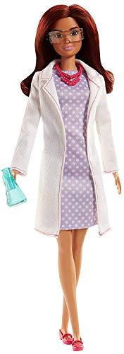Barbie- bambola scienziata per sognare in grande, giocattolo per bambini 3+ anni, fjb09