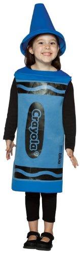 Rasta Imposta Crayola Crayons - Ages 4 / 6 - Child Fancy Dress Costume - Blue