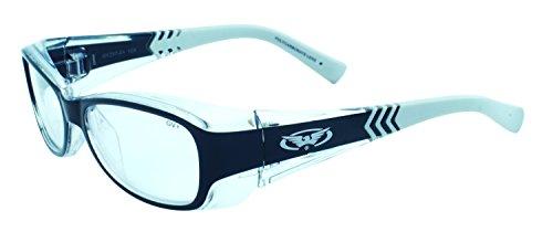 Global Vision Eyewear Sonnenbrille RX Serie mit zweifarbigen Kristall Rahmen und klar Sicherheit Objektive
