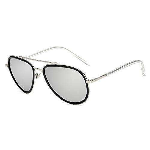 Gläser Gut aussehende Männer Mode Sonnenbrillen Metallic Kunststoff perfekt mit polarisierten Sonnenbrillen kombiniert Brillen (Color : 02Dark Sliver, Size : Kostenlos)