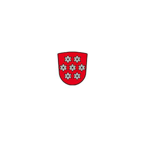 Aufkleber / Sticker -Thueringen Freistaat Binnenstaat Bundesrepublik Deutschland Deutsch Erfurt Wappen 6x7cm #A3161