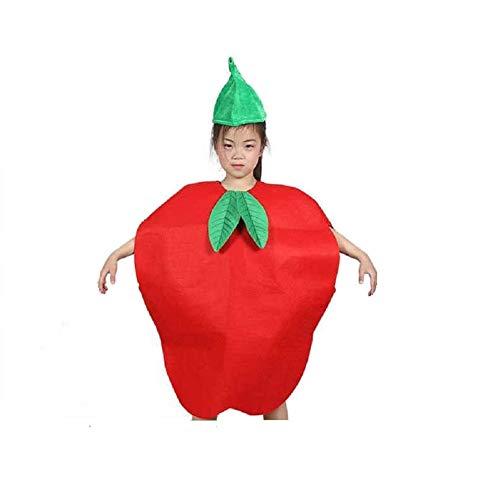 Matissa Früchte Gemüse und Natur Kostüme Anzüge Outfits Kostümfest für Jungen und Mädchen (Roter - Kinder Frucht Kostüm