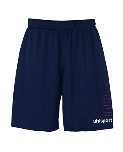uhlsport Herren Match Team Kit (Shirt&Shorts) Ss marine/Rot