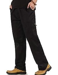 d87cc6c9eff1 Reeseiy Herren Freizeithose Einfarbig Baumwolle Cargohose Casual Tasche  Chic Multi Feldhose Erhalten Mode Loose Bequeme Lang