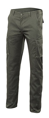 Velilla 103002S - Pantalon multipoches (taille 54) couleur vert chasseur
