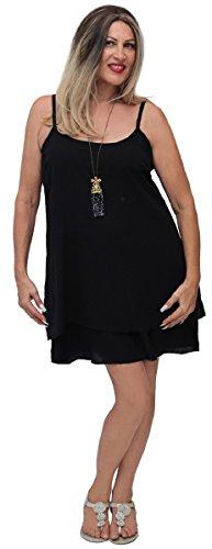 Lotustraders -  Vestito  - linea ad a - Basic - Senza maniche  - Donna Khaki