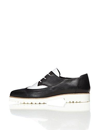 FIND Zapatos Brogues Mujer, Multicolor, 41 EU