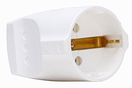 Kopp Schutzkontaktkupplung, 1 Stück, reinweiß, 183229001 (Kupplung)