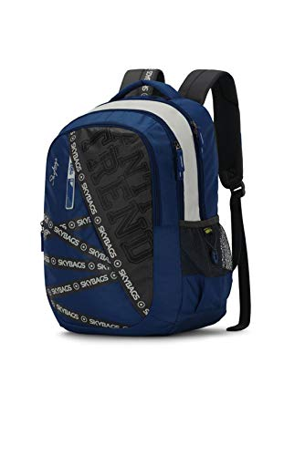 Best skybags backpack in India 2020 Skybags Figo Plus 01 34 Ltrs Blue Casual Backpack (FIGO Plus 01) Image 2