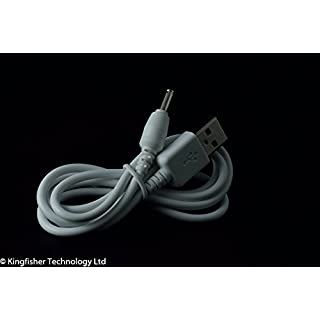 Kingfisher Technologie 90cm USB 5V 2A PC Weiß Ladegerät Power Kabel führen Adapter (22AWG) für Archos Arnova 10b G2Tablet