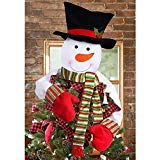 tze Schneemann, Top Hat Hugger für Winter Wonderland Party Thanksgiving Neue Jahr Xmas Tree Dekoration Ornament ()