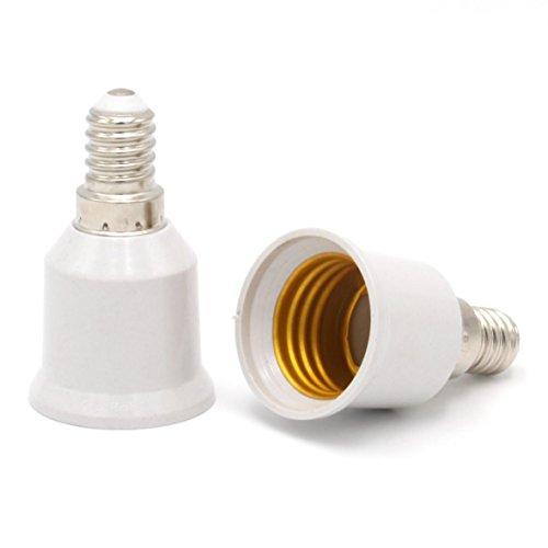 Luminosa E14auf E27Lampe Adapter Konverter für LED Edison Smart Leuchtmittel (2Stück Adapter)/Lampensockel-Adapter Adapter für LED Halogen Lampen/Lampe Verlängerung Halterung/CE zertifiziert/Energy Klasse A