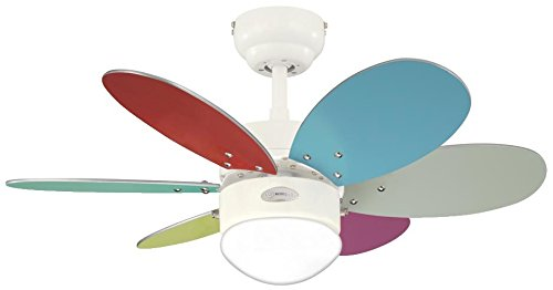 31Ht0DaOKbL - Westinghouse Ceiling Fans 78673 Turbo II One-Light 76 cm Six-Blade Indoor Ceiling Fan, White Finish with Opal Frosted…