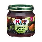 6 Pack of Hipp Apple & Blueberry Dessert 125 g