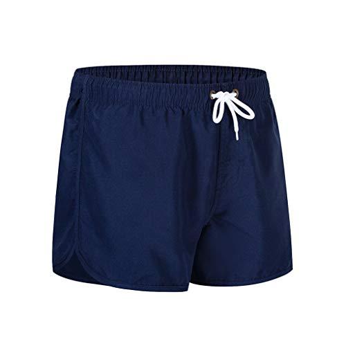 CAOQAO Pantaloni da Uomo Pantaloncini Jeans/Primavera Estate Moda Cintura Cintura Spiaggia Sport Surfing Spiaggia Pantaloni da Spiaggia/Dark Blue/M-XXL