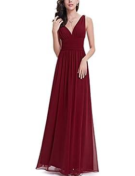 SMITHROAD Damen Chiffon Elegante Abendkleider Lange Ballkleider