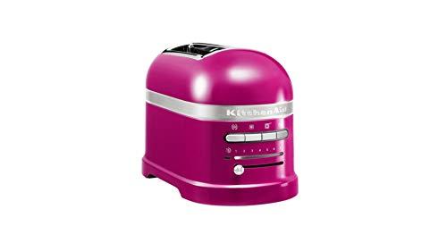 Torradeira Artisan 2 fatias rosa da KitchenAid. Começar o dia com uma deliciosa torrada é um dos simples prazeres da vida. Ao final do dia, uma saborosa sanduiche de queijo derretido pode transformar uma pausa num momento de prazer. A torradeira Arti...