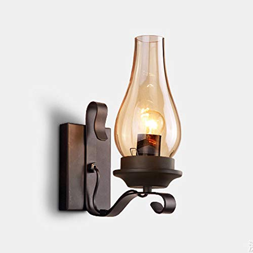 ZRK American Industrial Style Retro Kerosene Wall Lampe Persönlichkeit einfach und Kreatives Restaurant Aisle Staircase Wrought Iron Wall Lampe