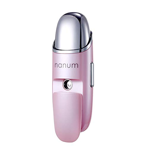 QAQWER Ultraschall Cool Mist Luftbefeuchter, Nano Spray Hydrating Instrument Handheld Beauty Zerstäuber Massagegerät Gesichtsbefeuchtung Steamer