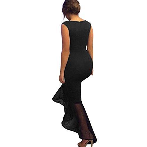 ZEARO 2016 Sexy Longue Robe Moulante D?Honneur Formel ÉLégante Dress Night Uni Queue De Poisson Pour Soirée, Cocktail Noir
