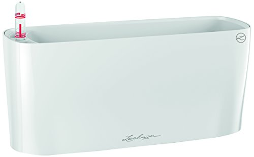 Lechuza Premiuim  Delta 10 30cm Wide, High Gloss White Self Watering  Houseplant & Herb  Windowsill Planter Trough
