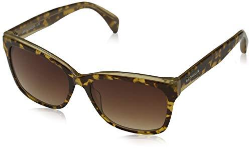 KAREN MILLEN Damen Luxe Sonnenbrille, Braun (Torf), 56.0