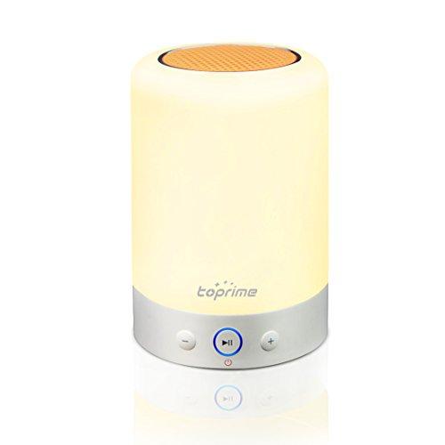 Toprime Luces de Noche de Bluetooth Lampara Altavoz Colorido del El Estudio Dormitorio Cuarto de Baño/ La Fiesta USB SD FM
