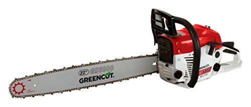 Greencut GS6800 22   Motosierra de gasolina (62 cc) color rojo