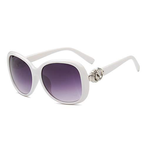 Provide The Best Damen mit großem Rahmen und Sonnenbrillen Mädchen Kunststoff Schatten Dunkle Gläser Weinlese Stilvolle Im Freien Brille