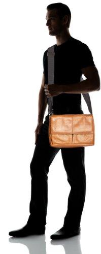 Bugatti Bags  Borsa Messenger, 7 L, Nero Cognac