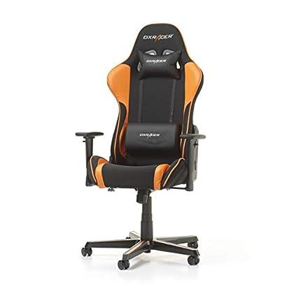 DXRacer Formula F11-NO Gaming - Silla de Piel sintética (53 x 67 x 132 cm), Color Naranja