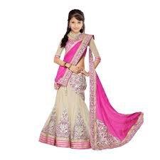 S R Fashion Girl\'s Faux Georgette Lehenga (SR-801-2_Pink_Free Size)