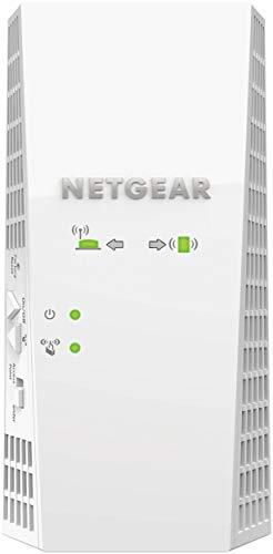 Netgear WLAN Mesh Repeater EX7300-100PES AC2200 Dual Band Wireless Signal-Verstärker und Booster (Abdeckung von bis zu 180m² und 35 Geräten, Geschwindigkeit bis zu 2200 Mbit/s plus Mesh Smart Roaming) -