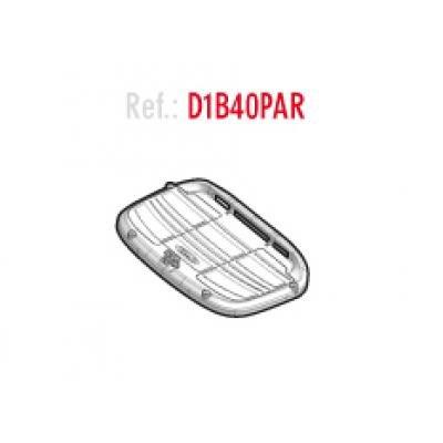 Shad D1B40PAR Platina/Parrilla Universal para Baúles Sh40-Sh45, Negro