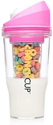 The CrunchCup – una taza de cereales portátil – sin cuchara. Sin cuenco. It's Cereal On The