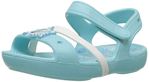 Crocs Lina Frozen Sandal Kids, Mädchen Sandalen, Blau (Ice Blue), 33/34 EU