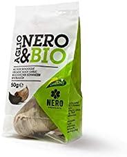 NERO FERMENTO NB Aglio Nero Bio prodotto con Aglio di Voghiera D.O.P. 50 gr (2 bulbi), Made in Italy, Senza Co