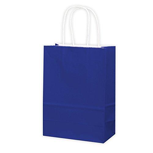 (10 Apestool Papier Geschenktüten Papiertüten mit Griffen, insgesamt 3 Farben für Ihre Wahl (Schatz blau))