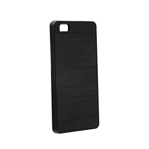 """BACK CASE PANZER für Apple iPhone 7 4,7"""" Hülle Etui Flip Cover TPU Tasche (schwarz) schwarz"""