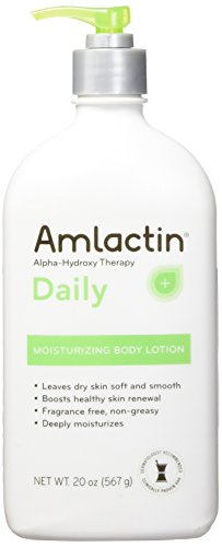 Amlactin 12% Lactic Acid Alpha-Hydroxy Therapy Moisturizing Body Lotion, Fragrance Free, Non-Greasy (Large 20-Ounce Bottle) - Skin Therapy Moisturizing