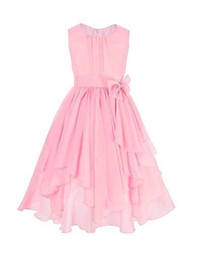 en Kleid Pinzessin Kostüm Blumenmädchen Kleider Festlich Party Hochzeit Festzug- Gr. 104/4 Jahre, Rosa (Party-kostüm Für Kinder)