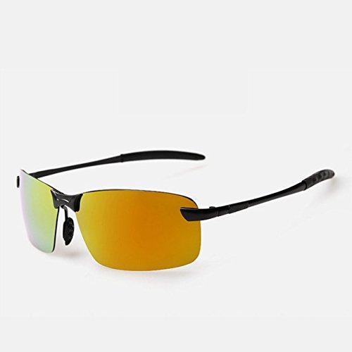 tocoss (TM) Legierung Rahmen Marke Polarisierte Sonnenbrille Herren Driver Sonnenbrille Spiegel Sports Sun Brille für Frauen Night Vision Brillen Hot Sale, schwarz / goldfarben