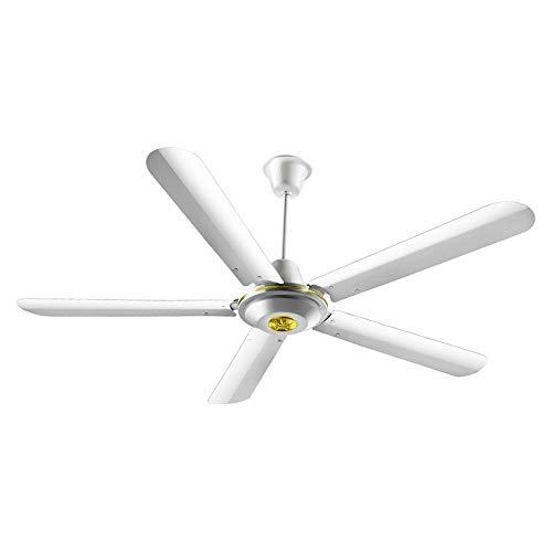 Ventilatoren ZXMEI Deckenventilator-Haushalts-Fan 56 Zoll-Eisen-stummes Wind-großes Wohnzimmer-Schlafzimmer-Restaurant-industrieller Kran-König 56-Zoll-Kupfer-Motor-erweiternde Klinge Wind-Ton 80W