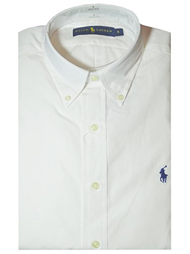 Ralph lauren polo shirt white poplin classic fit large