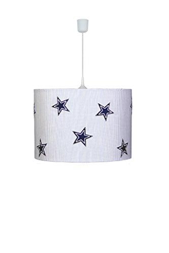 Waldi Leuchten Lampe suspendue étoiles, Denim Baleine - 70252.0