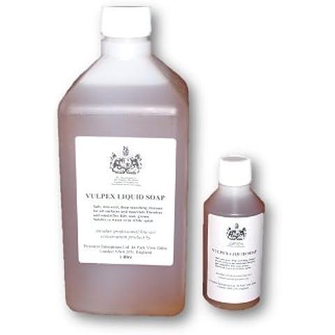 Jabón líquido Vulpex botella de 1litro–una caja fuerte limpiador de muchas superficies delicadas versátil es decir monedas, textiles, metales, cuero, pinturas al óleo (murales, lona), Esculturas, piedra etc.