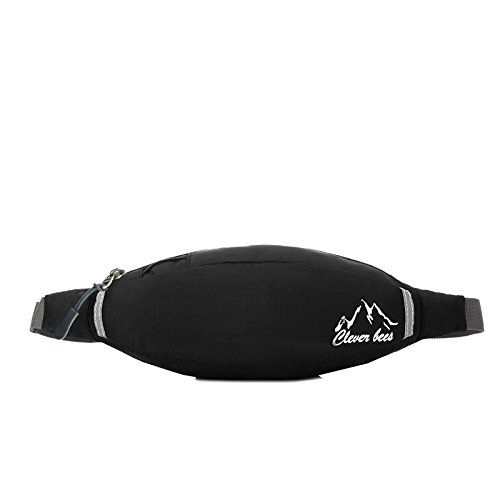 Zll/corsa multiuso per uomini e donne sport impermeabile Fanny Pack Outdoor Tempo Libero Viaggio Borse, Rosso nero