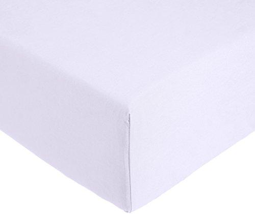 AmazonBasics 'Everyday' Lenzuolo con angoli king, in 100% cotone, Lilla, 180 x 200 x 30 cm